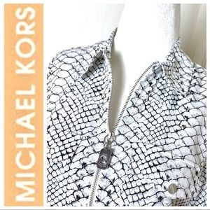 MICHAEL KORS Snake Print Long Sleeves BLOUSE Top
